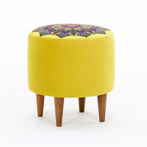Resim  Evdebiz Latina Ayaklı Puf - Sarı