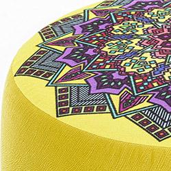 Evdebiz Latina Ayaklı Puf - Sarı