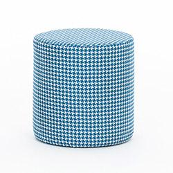 Evdebiz Kazayağı Silindir Puf - Mavi