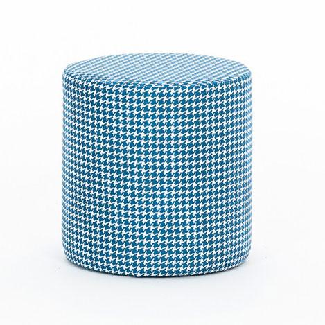 Resim  Evdebiz Kazayağı Silindir Puf - Mavi