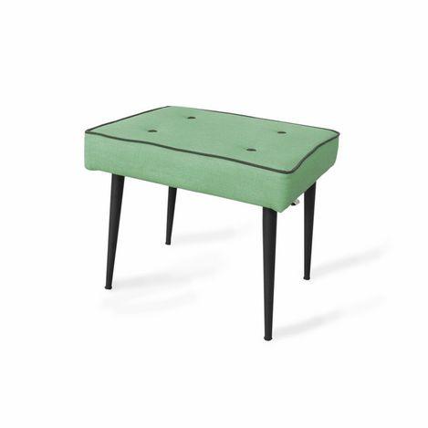 Boo Home Dekoratif Metal Ayaklı Puf - Yeşil