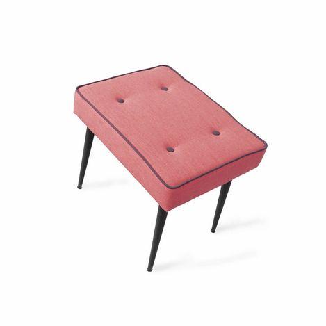 Resim  Boo Home Dekoratif Metal Ayaklı Puf - Kırmızı