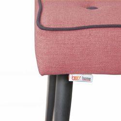Boo Home Dekoratif Metal Ayaklı Puf - Kırmızı
