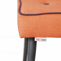 Boo Home Dekoratif Metal Ayaklı Puf - Turuncu