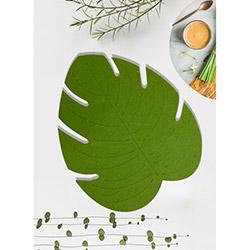 Keramika Keçe Yaprak Amerikan Servis - Yeşil