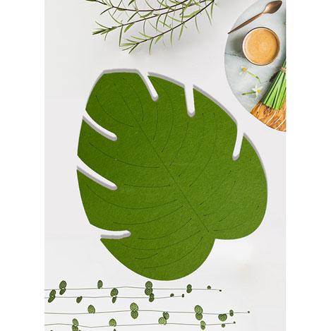 Resim  Keramika Keçe Yaprak Amerikan Servis - Yeşil