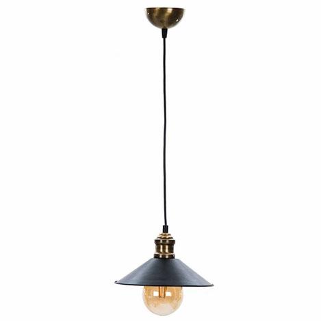 Safir Light Modernica Tekli Sarkıt - Siyah / Altın