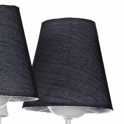 Safir Light Oylum 3'lü Şapkalı Avize - Siyah