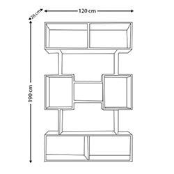 Nur Mobilya Boss (28 cm Derinlik) Modern Kitaplık - Ceviz / Beyaz