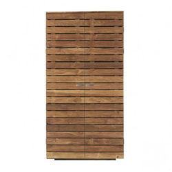 Rabi Prestij Wood 2 Kapaklı Gardırop - Kahverengi