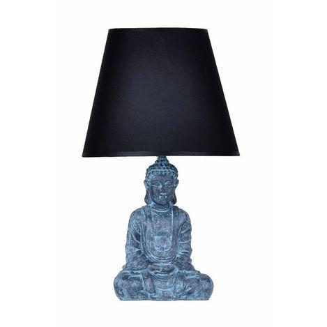Qdec Modern Dizayn Buda Abajur - Antrasit / Siyah