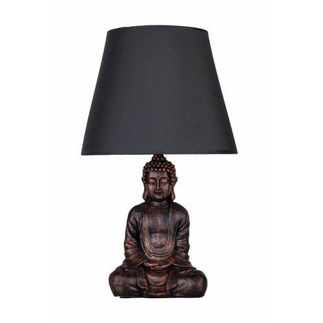 Resim  Qdec Modern Dizayn Buda Abajur - Bakır / Gri