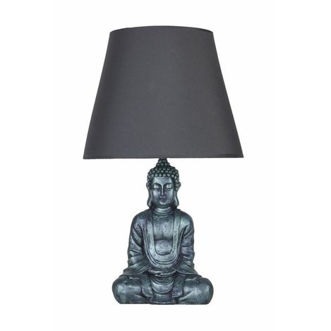 Qdec Modern Dizayn Buda Abajur - Yeşil / Gri