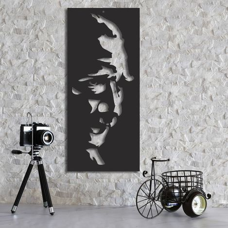 Resim  Dekorjinal MTK063 Atatürk Duvar Dekoru - 38x67 cm