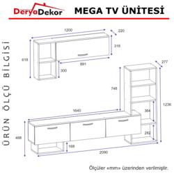 Derya Dekor Mega Tv Ünitesi - Ceviz