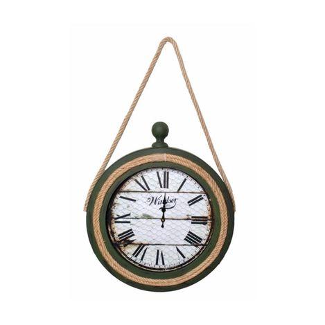 Atadan ATD50YS Halatlı Ahşap Dekoratif Saat - Yeşil