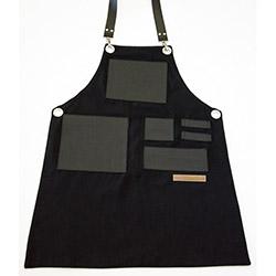 MonApron 01S Monet Özel Tasarım Önlük (Siyah) - 80x60 cm