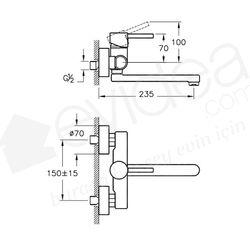 Artema Minimax S Duvardan Evye Bataryası