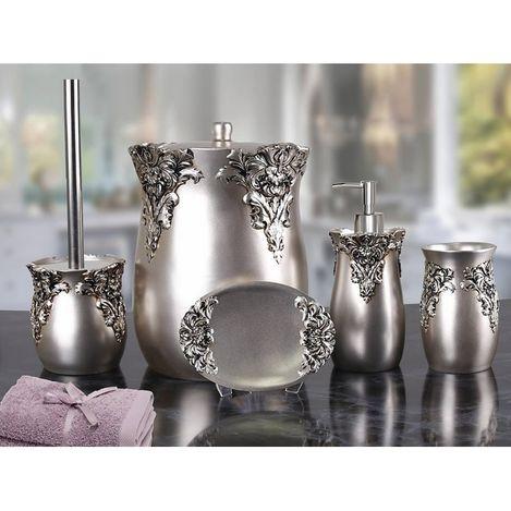 Resim  By Selim Dream 5'li Banyo Seti - Gümüş