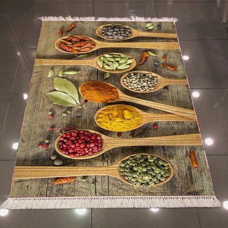 Resim  Else 3D Baharat Mutfak Dokuma Şönil Halı - 80x300 cm
