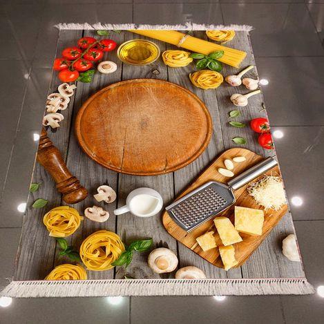 Else 3D Kahvaltı Mutfak Dokuma Şönil Halı - 80x200 cm