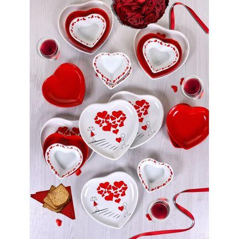 Resim  Keramika 6 Kişilik 18 Parça Sweet Love Kahvaltı Takımı