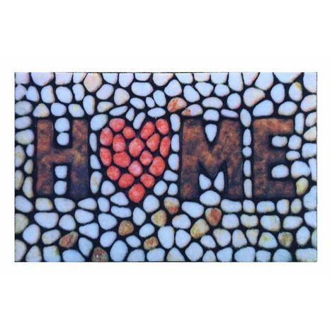 Resim  Giz Home RKHK3139 Rock&Roll Kapı Önü Paspası - 45x75 cm