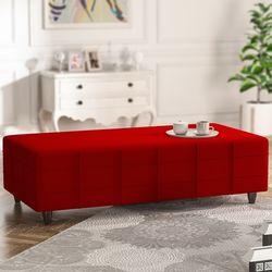 Evdemo Hilal Delux Puf - Kırmızı
