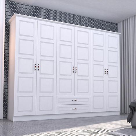 Resim  Rabi Asil 6 Kapaklı Gardırop - Beyaz