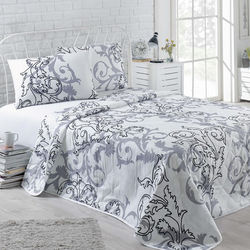 Eponj Home B&W Mare Tek Kişilik Yatak Örtüsü Takımı - Beyaz
