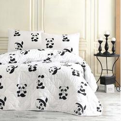 Eponj Home B&W Panda Tek Kişilik Yatak Örtüsü Takımı
