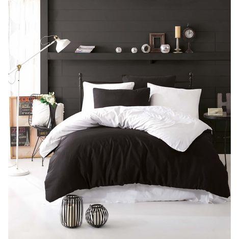 Eponj Home Paint Çift Kişilik Nevresim Takımı - Siyah/Beyaz
