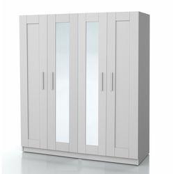 DSM Dizayn MNT302B 4 Kapılı Çift Aynalı Gardırop - Beyaz
