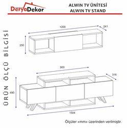 Derya Dekor Alwin Tv Ünitesi - Ceviz/Beyaz