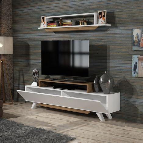 Derya Dekor Harmony Tv Ünitesi - Beyaz/Ceviz