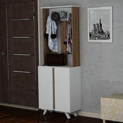 Derya Dekor Wisper Portmanto - Ceviz/Beyaz