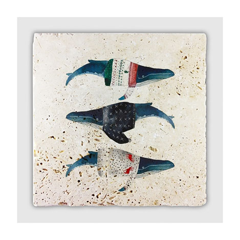 Jojo Tasarım JJDK-024 Mutlu Balıklar Duvar Panosu - 20x20 cm