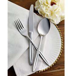 Pierre Cardin 71113114 12 Kişilik Çelik Çatal Bıçak Kaşık Takımı Arty - Gümüş
