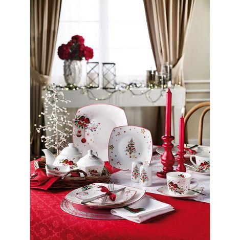 Resim  Pierre Cardin 71108938 6 Kişilik Crown Bone China Christmas Kahvaltı Takımı