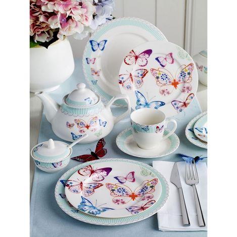 Pierre Cardin 71117283 6 Kişilik Crown Bone China Kahvaltı Takımı Papillon Kahvaltı Takımı