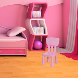 Modüler Mini Sandalye - Pembe