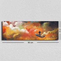 Özgül TUF-004 Kanvas Tablo - 30x90 cm