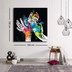 Özgül C-014 Kanvas Tablo - 100x100 cm