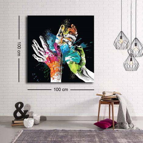 Resim  Özgül C-014 Kanvas Tablo - 100x100 cm