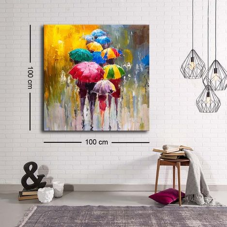 Resim  Özgül C-028 Kanvas Tablo - 100x100 cm