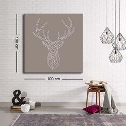 Özgül Grup C-032 Kanvas Tablo - 100x100 cm