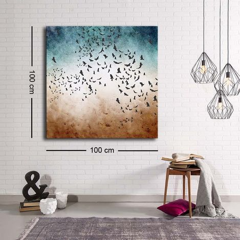 Resim  Özgül C-047 Kanvas Tablo - 100x100 cm