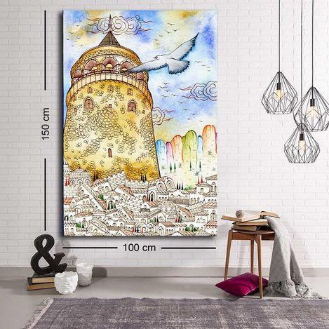 Özgül C-025 Kanvas Tablo - 100x150 cm