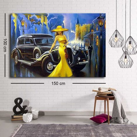 Resim  Özgül C-035 Kanvas Tablo - 100x150 cm