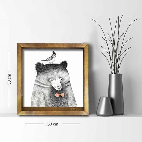 Resim  Özgül Grup 3030AHS014 Ahşap Çerçeveli Tablo - 30x30 cm